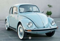 Volkswagen Beetle...traded in first ride for this snappy model!