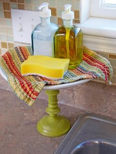 When was the last time you replaced the sponge in your kitchen sink? If it's been more than a month, toss it. In between, sanitize it with a spin in the dishwasher. Kitchen Dishes, Diy Kitchen, Kitchen Decor, Kitchen Ideas, Kitchen Shelves, Messy Kitchen, Kitchen Interior, Kitchen Pantry, Kitchen Pictures