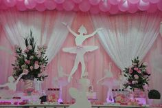 Ballerinas with Bracelets party decor Ballerina Party Decorations, Ballerina Birthday Parties, Birthday Party Themes, Ballerina Baby Showers, Dance Themes, Tutu Party, Princess Theme, Birthday Table, Bday Girl