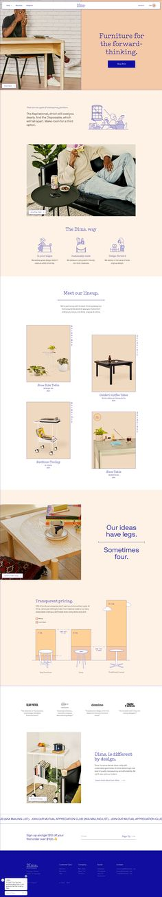 Love this fun, modern and young furniture brand! The branded web design looks trendy, innovative and hip. Web Design Examples, Web Design Tips, Web Design Tutorials, Web Design Trends, Page Design, Web Layout, Layout Design, Business Web Design, Website Design Inspiration