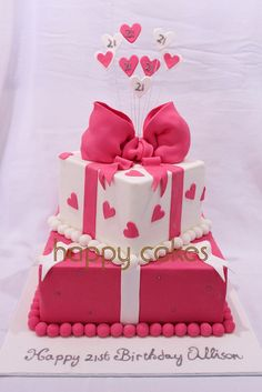21st Cake by Happy Cakes (Little Cakes for Your Happy!), via Flickr