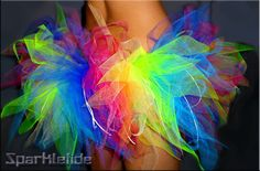 This is the Rainbow Tutu I want to make for the Color me RAD Run this Spring! Can't wait <3