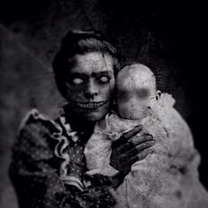 "horror-nula: "" Will You Crack Under the Creepiness of These Eerie GIFs? Arte Horror, Horror Art, Horror Movies, Horror Pictures, Creepy Art, Creepy Dolls, Dark Fantasy, Images Terrifiantes, Arte Obscura"