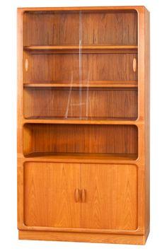 dyrlund teak display cabinet danish mid century modern