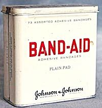 When Band-Aids came in metal containers.