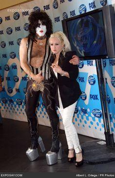 Cyndi Lauper & Paul Stanley. http://www.pinterest.com/TheHitman14/odd-couples-%2B/