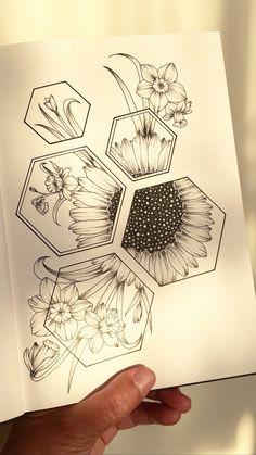 Art Drawings Beautiful, Art Drawings Sketches Simple, Pencil Art Drawings, Easy Drawings, Tattoo Drawings, Cute Tattoos, Body Art Tattoos, Tatoos, Unique Tattoos