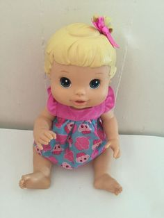 2008 Hasbro Baby Alive Drink Wet Blonde Molded Hair 10261 C 015D Hazel Purple | eBay