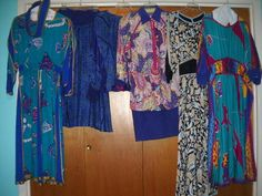 Lot 5 Vintage Jeanne Marc Dresses 4 6 8 10 Free Shipping Resale | eBay