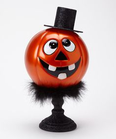 Take a look at this Black LED Pumpkin Head Figurine by Transpac Imports on #zulily today!