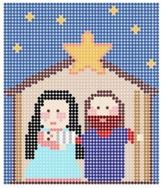 Perler Bead Christmas Patterns, our kids love fuse beads! Perler Bead Designs, Hama Beads Patterns, Beading Patterns, Embroidery Patterns, Beaded Cross Stitch, Cross Stitch Patterns, Cross Stitches, Christmas Perler Beads, 8bit Art