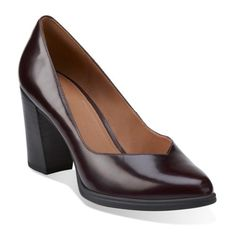 Kadri Leah Burgundy Leather - Clarks Womens Shoes - Womens Heels and Flats - Clarks - Clarks® Shoes