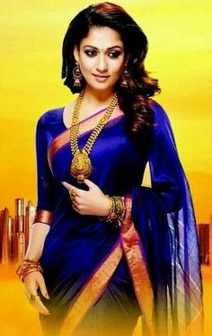 One among the few known for beauty in saree, is Nayanthara in Saree. Here are a few mind-blowing pictures of Nayanthara in saree that you can try too. Nayanthara In Saree, Indische Sarees, Simple Sarees, Traditional Sarees, Traditional Clothes, Elegant Saree, Little Doll, Saree Dress, Half Saree