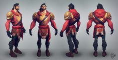 Martin Punchev | 2d/3d character artist | vertexbee.com | Stylized Warrior Low-Poly Model