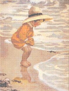 Jessie Wilcox-Smith The Sea Blossom Counted Cross Stitch Pattern PDF | RobinsDesign - Patterns on ArtFire
