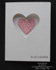 Valentine card using framelits.