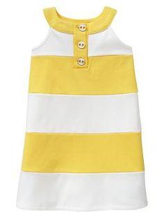 Colorblock stripe shift dress | Gap