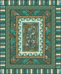 Quilt Patterns with Center Panels | Fractured Glass Quilt Pattern PC-125 (intermediate, queen, lap)