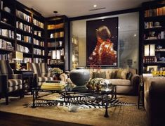 like this.                                                http://www.shelterness.com/7-modern-home-library-designs-to-inspire/