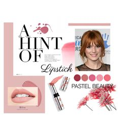 """Pucker Up: Spring Lips with Pastel <3"" by aulyputri on Polyvore featuring beauty, Ciaté and Kjaer Weis"