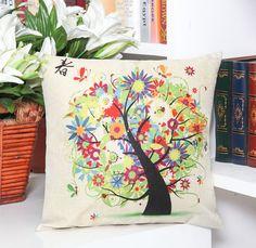 Throw Pillow Case Cotton linen Sofa Cushion Cover Home Decor Four Season 45cm   Home & Garden, Home Décor, Pillows   eBay!