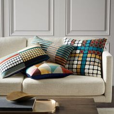 Wallace Sewell Crewel Semi Stripe Cushion Cover