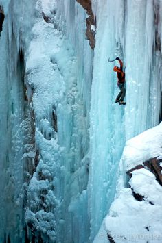Frozen in time! #iceclimbing