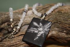 Chrysanthemum Stone, Moonstone, Iolite Necklace. $42.00, via Etsy.