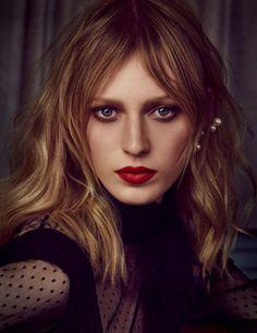 Feel Free: Julia Nobis by Iango Henzi + Luigi Murenu for Vogue Germany October 2015 - Valentino Fall 2015 top