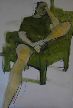 oil sketch: woman with hand to head by Mark Horst, via Flickr