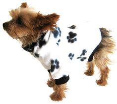 Small Dog Hoodie Sweatshirt - Black Paw Print