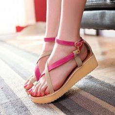 free shipping 1e532 ea952 Modern Street Style Wedge-sandal