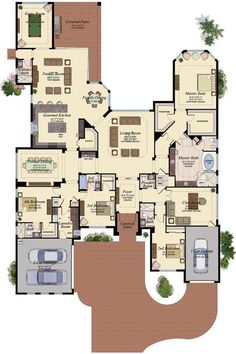4660 square feet - 4 Bedroom, 5 1/2 Bath, 3 Car Garage... this one, this one, this one... Please!