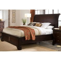 King Sleigh Bed for Master Bedroom