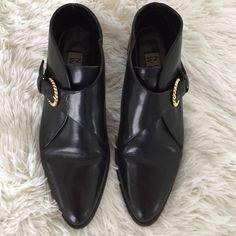 Vintage Leather Nine West Ankle Boots