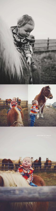 Western Family Photographer :: Western North Dakota » Creations by Chelsy Photography rodeo family pony horse heartbreaker little cowboy