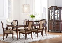 Mansell Manor Dark Cherry 5Pc Rectangle Dining Room
