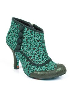 NEW-IRREGULAR-CHOICE-AMAZING-LAUGHS-GREEN-LACE-SHOE-BOOTS-UK-3-4-5-6-7
