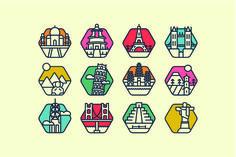 12 Landmark icon pack @creativework247