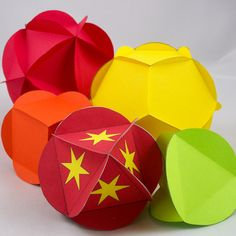 All Five Platonic Solids - Tetrahedron, Cube, Octahedron, Dodecahedron, Icosahedron