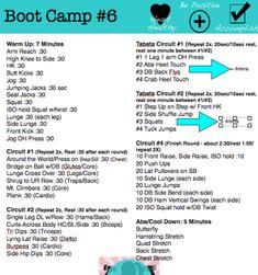 Printable Boot Camp #6