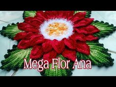 How to crochet a poinsettia flower Crochet Flower Tutorial, Crochet Flower Patterns, Crochet Designs, Crochet Flowers, Peacock Crochet, Crochet Leaves, Yarn Flowers, Diy Crafts Crochet, Christmas Placemats