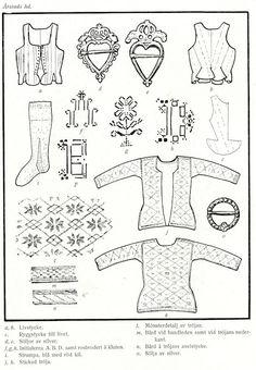 Swedish Fashion, Swedish Style, Textile Design, Textile Art, Folk Costume, Costumes, Baltic Region, Strange Flowers, Folk Clothing