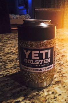 Glitterized Yeti Colster / Koozie in Gold by GlitterYeti on Etsy