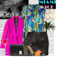 Image result for miami vice party invitations