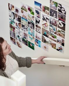 Make a picture wall on a stairway