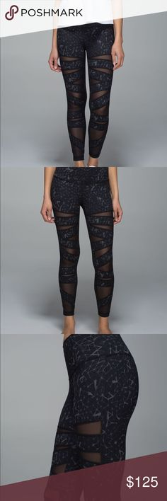 """lululemon high times star crushed leggings GUC due to wear but overall no holes,rips or stains. No tags but looks like it's a size 8. Measured: 14.5"""" across • length: 34"""" • inseam: 26"""" lululemon athletica Pants Leggings"""