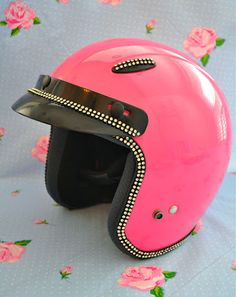 30 Day Photo Challenge  Day 15 Something Pink.  My Motorcycle helmet