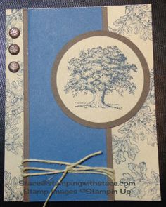 """Stamping with Stace creates a masculine card using  lovely as a tree, Stampin"""" Up!"""