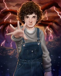 Fan art of eleven / jane hopper from netflix stranger things season gabriel vitoria 11 8 Stranger Things Netflix, Stranger Things Tumblr, Stranger Things Quote, Stranger Things Aesthetic, Eleven Stranger Things, Tumblr Movie, Strange Things Season 2, Bobby Brown, Cute Love